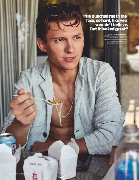 Именинник Tom Holland в съемке для GQ UK / Июль 2017